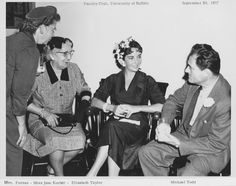 Elizabeth Taylor and husband Mike Todd at the Faculty Club, University of Buffalo - Clifford C. Furnas Collection - University at Buffalo Libraries