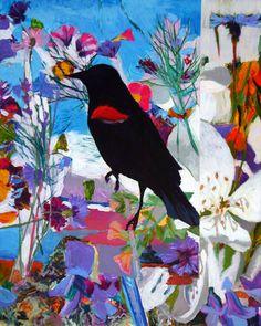 """Saatchi Online Artist: Ellen Dittebrandt; Acrylic, 2012, Painting """"With Moss"""""""