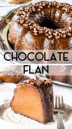 Chocolate Flan (instructions for oven and pressure cooker) Chocolate Flan, brazilian Brigadeirao Keto Friendly Desserts, Low Carb Desserts, Just Desserts, Delicious Desserts, Gourmet Desserts, Plated Desserts, Chocolate Flan, Chocolate Desserts, Mexican Food Recipes