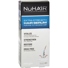 Nuhair Extra Strength Thinning Hair Serum For Men And Women - 3.1 Fl Oz