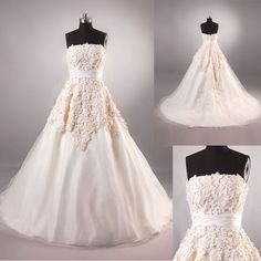 free shipping 2016 new design actual images pregnant women A-line Strapless Court bridal Dresses With Sash good Wedding Gowns