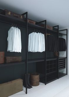 Open Wardrobe, Wardrobe Storage, Bedroom Wardrobe, Wardrobe Closet, Shoe Storage, Diy Storage, Organizing Walk In Closet, Bedroom Organization Diy, Bedroom Closet Doors Sliding