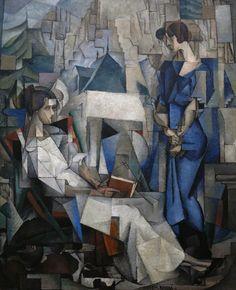 Portrait of Two Women byDiego Rivera. 1914