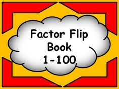 This tool can be used in a math center to provide extra support or as a reference tool for students learning how to factor numbers 1-100.  The pages are in sequential order for ease of use and printing. Keep them together or cut them apart for a handy reference tool.
