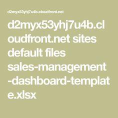 d2myx53yhj7u4b.cloudfront.net sites default files sales-management-dashboard-template.xlsx Dashboard Template, Management, Templates, Stencils, Vorlage, Models