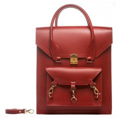 Tomas Brilliance - Red Pelham Bag (€485) ❤ liked on Polyvore featuring bags, handbags, tote bags, red leather tote bag, leather handbags, red leather purse, leather man bag and leather tote