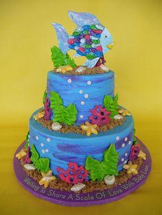 The Rainbow Fish Baby Shower Cake