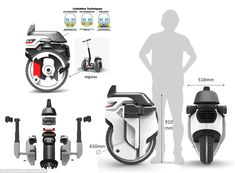 Mr Shikar says the robots would be able to balance using a similar system to that used on a Segway (graphic above). More compact than delivery vans they would take up less space on the roads and without the need for drivers could make deliveries at night