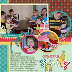 layout made using It's My Party digital scrapbook kit by Simple Girl Scraps