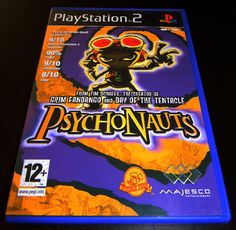 Front cover of the PS2 video game Psychonauts.       Video Game Systems  Information.