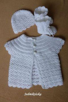Háčkování :: Sedmikráska Kerchief, Crochet Baby Booties, Baby Sweaters, Pattern, Fashion, Craft, Dots, Moda, Fashion Styles