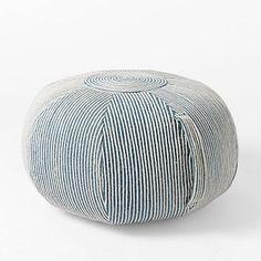 Elegant Round Swirl Pouf Good Looking