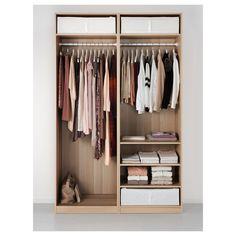 IKEA - PAX Wardrobe white stained oak effect, Auli Ilseng
