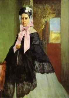 Therese de Gas, sister of the artist, later Madame Edmond Morbilli - Edgar Degas
