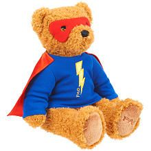 FAO Schwarz 11 inch Superhero Bear - Tan/Red - Max needs his super teddy to sleep
