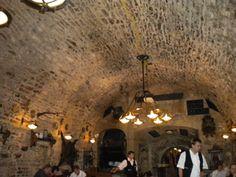 U Zlate Konvice Pub in Prague! Amazing  underground pub that was built over 1000 years ago!
