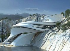 25 Amazing Futuristic Architecture That Will Inspire you Best Futuristic Architecture. Architecture is a system of building construction including the design process, construction, structure, and in this case, also concerning aspects of decoration and be… Pavilion Architecture, Organic Architecture, Architecture Portfolio, Futuristic Architecture, Contemporary Architecture, Interior Architecture, Parametric Architecture, Amazing Architecture, Creative Architecture