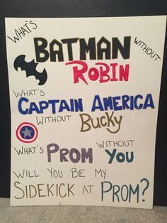 Need an idea to ask your superhero boyfriend to prom? Here's a simple way to ask! Need an idea to ask your superhero boyfriend to prom? Here's a simple way to ask! Asking To Homecoming, Cute Homecoming Proposals, Formal Proposals, Homecoming Posters, Hoco Proposals, Homecoming Asking Ideas, Prom Poster Ideas, High School Dance, School Dances
