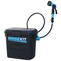 RinseKit is a portable, pressurized shower that's like having a garden hose wherever it is needed. With no pumping and no batteries, it fills in 20 seconds, storing the strength of a regular household spigot to deliver pressurized spray for up to four minutes.