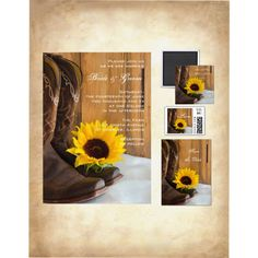 Wedding invitations, Save the date, and Announcements for a  country wedding theme.