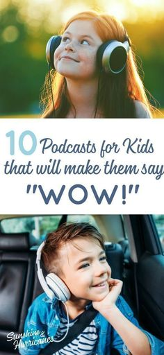 """10 Podcasts For Kids That Will Make Them Say """"Wow! Don't let all the time your kids spend on tech make you feel guilty. Podcasts are a great way to tap into their love for tech and use it to light up their minds and help them explore and learn about the Kid Cudi, Parenting Teens, Parenting Advice, Gentle Parenting, Mom Advice, Audio Books For Kids, Kids Sand, Mentally Strong, Happy Kids"""