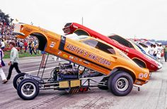 Vintage Drag Racing - Funny Cars - and that is why they called them floppers