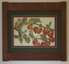 Physalis Mission Style Art -Horizontal Frame