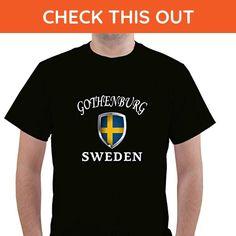 SWEDEN GOTHENBURG Unisex Short Sleeve T Shirt - Cities countries flags shirts (*Amazon Partner-Link)