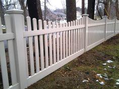 Scalloped Vinyl Picket Fence