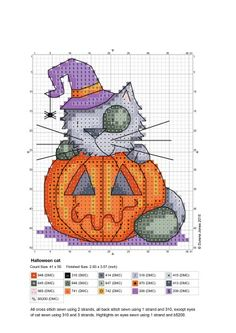 Halloween Kitty. Chart & Color Key.