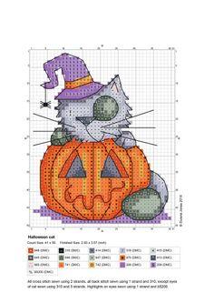 Halloween Kitty. Chart & Color Key.