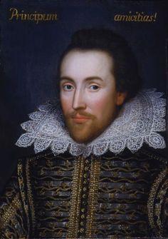 "Shakespeare portrait, perhaps...   ""the alliances of princes."" Called The Cobbe portrait, circa 1610."