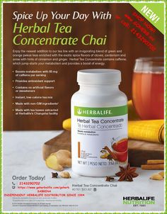 NEW PRODUCT! SPICE UP YOUR DAY with HERBAL TEA CONCENTRATE CHAI!