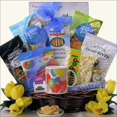 Teariffic gift basket carnival fundraiser pinterest gift sugar free get well wishes gift basket negle Images