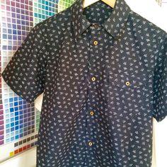 YUNY Mens Cozy Wild Velvet Double Placket Printed Dress-Shirts