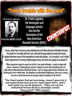 This man was honest with himself and God! Can you be this honest? Get back to the King James Bible! Bible Notes, Bible Verses, New Bible, Bible Book, Bible Translations, New American Standard Bible, King James Bible, Bible Truth, True Words