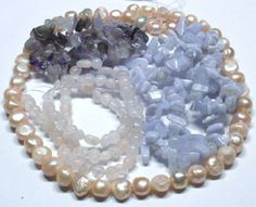 Lot of 4.3 Oz. of Mixed Stone Beads in Pastels by BeadsFromHaven, $7.15