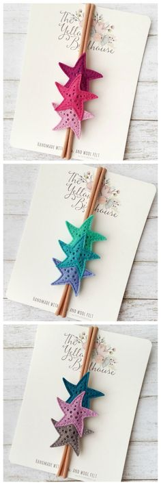 Felt Starfish Headbands. Oh my gosh, these would be perfect for a nautical or mermaid themed party!!