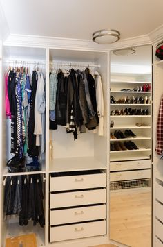 Using IKEAs PAX Closet System We Were Able To Make These Stylish Custom Built In Wardrobes For A Fraction Of The Cost