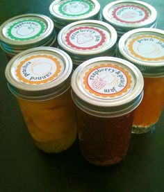 Mason jar labels to download and print for canned preserves