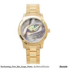 Enchanting_Cats_Eye_Large_Unisex_Gold_Watch Watches