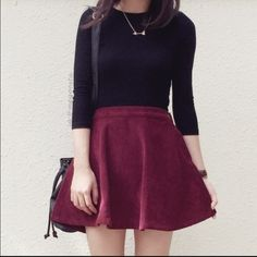HP Maroon Circle Skirt  Cute circle skirt! Fun to wear and very cute for any outfit! Cotton On Skirts Circle & Skater