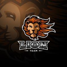 Lion Head Logo, Lion Head Tattoos, Lion Logo, Lion Tattoo, Mascot Design, Logo Design, Lions Team, Free Characters, Lion Art