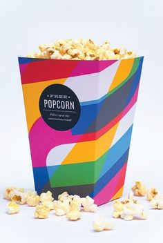 popcorn, now THIS is an idea. Send as an invite, have kettle corn in the booth or party????