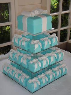 Tiffany's wedding cakes. Large and minis.