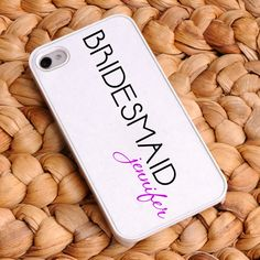 Personalized Signature 21 Bridesmaid iPhone Case. How cute I need one for each bridesmaid.