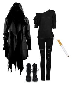 """""""Reaper"""" by burymeinleather ❤ liked on Polyvore featuring ...Lost and MANGO"""