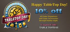 TableTop Day Sale April 5th-6th 2014.