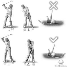 A reverse pivot swing can lead to thin shots