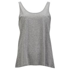Vero Moda Women's Studded Lightning Top found on Polyvore featuring polyvore, fashion, clothing, tops, shirts, tank tops, blusas, tanks, grey and grey camisole